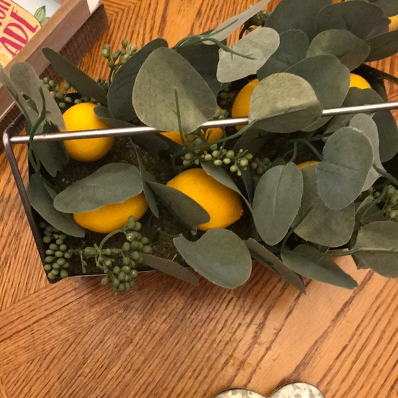 Lemon in a basket. Great for center pieces